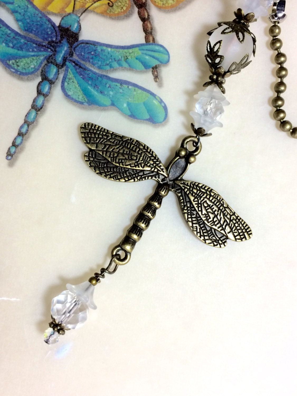 Dragonfly Pull Chain Light Pull Ceiling Fan Pull Ball Chain