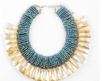Beautiful stacked beaded necklace