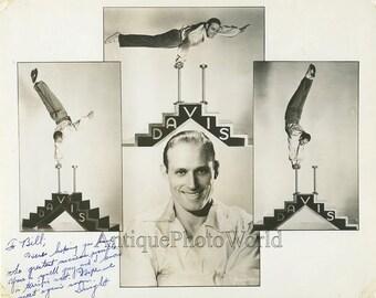 Acrobat antique signed circus photo