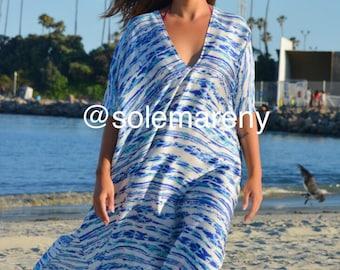 Oversized kaftan, beach coverup, beach kaftan, caftan, honeymoon cover up