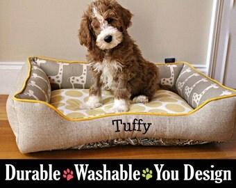 Small Dog Bed - Design Your Own Dog Bed or Cat Bed - Polka Dots, Nursery, Denton, Giraffe  - Custom Dog Bed | Custom Cat Bed