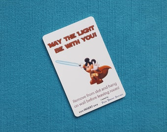 Mickey May the Light be With You Disney Cruise Light Card® card key switch activator for Fish Extender FE Gift Star Wars Day at Sea