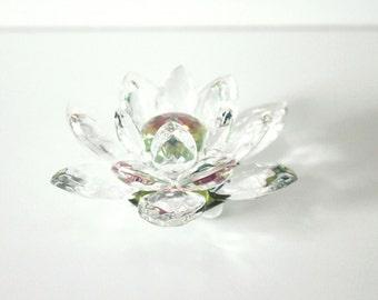 Crystal Home Décor, Crystal Flower, Crystal Sculpture, Flower Sculpture, Glass Sculpture, Lotus Flower