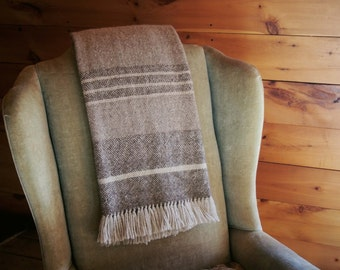 Handwoven Throw ~~ Made with the softest Nezinscot Wool, Angora, and Mohair