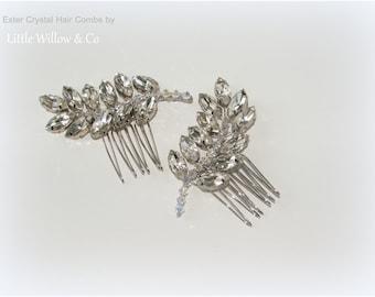 ESTER Art Deco Hair Combs, Crystal Hair Combs, Vintage Style Hair Combs, Gatsby Headdress, Wedding Hair Combs, Wedding Hair Accessory