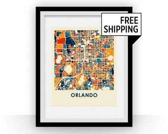 Orlando Map Print - Full Color Map Poster