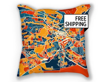Nairobi Map Pillow - Kenya Map Pillow 18x18