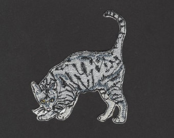 Egyptian Mau Cat Kitten Kitty Embroidered Iron On Applique Patch
