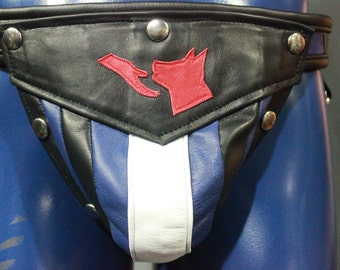 Our 'Pup Handler' All leather jock with interchangeable codpiece