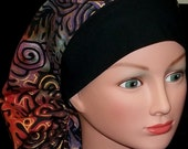 Unique and Fun Earthy Swirls Bouffant or Pony Tail Surgical Scrub Hat Cap