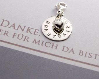 WEDDING, PENDANT with engraving, 925 Silver