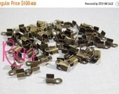 On Sale 100 - 6x3x2mm Antique Bronze Cord Ends