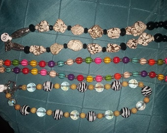 Hand Made.....get compliments on your ONE of a kind Statement Necklaces!
