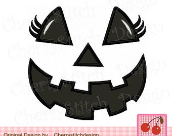 Halloween Ghost Face for firls,Ghost girl face,Ghost Digital Embroidery Applique -4x4 5x5 6x6 inch-Machine Embroidery Applique Design