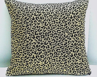 Animal Print Pillow cover 16 x 16  in Leopard Cheetah Pattern