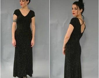 SALE 1990s cross back maxi dress