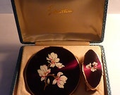 On hold. UNUSED cased vintage Stratton set vintage powder compacts enamel compact mirrors gifts for her / mums / moms / wives / girlfriends