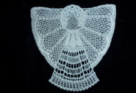 Machine Embroidered Lace Angel