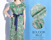 Green Printed Silk Crepe de Chine Fabric with Floral Pattern, Designer Fashion Silk Fabric By The Yard,1m-SZ528645767883