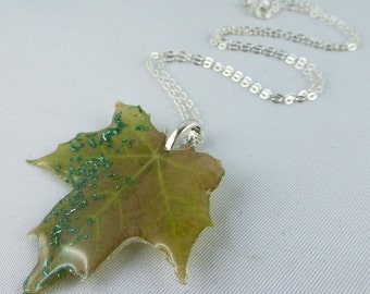 Necklace, 925, silver, resin