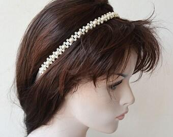 Wedding Hair Accessories, Bridal Pearl Headband, Pearl Headband Wedding, Head piece Wedding, Hair Accessories, Hair Jewelry