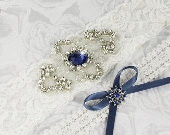 20% OFF Off White Lace Bridal Garter Set, Lace Wedding Garter, Personalized Garter, White Lace Garter, White Wedding Garter