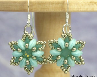 Crown Flower Bracelet and Earring Tutorial