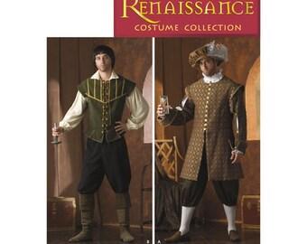 Simplicity Pattern 4059 Men's Renaissance Costumes, New Uncut Sewing Pattern mens size Xs-Xl
