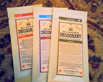 Pack of Three Natural Deodorant Samples