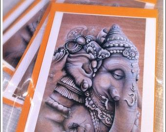 Ganesha - postcard [black and white]