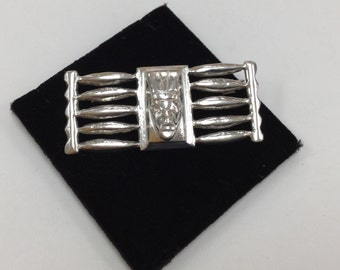 Vintage Mexico 925 Sterling Silver Brooch !!!  Free US Shipping!!!
