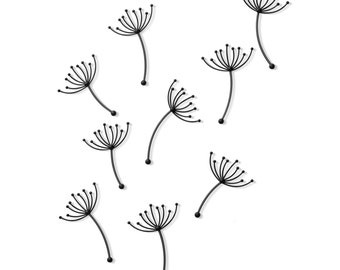 PLUFF - dandelion design wall decoration