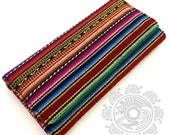 Original rare handcrafted handmade  MANTA INCA textile trifold checkbook style ladies wallet