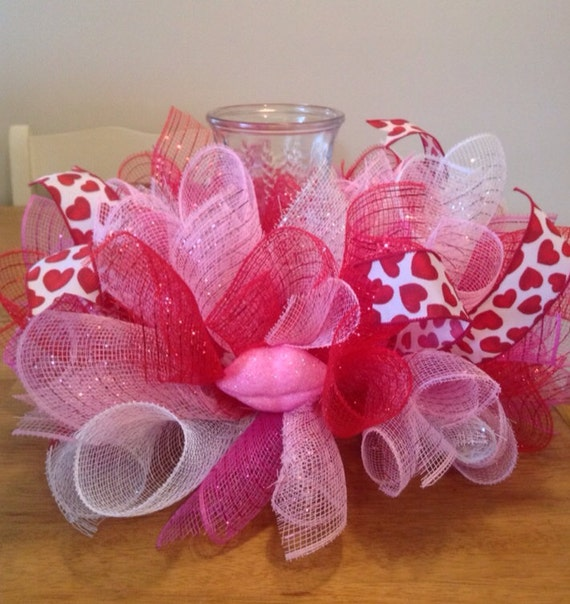 Valentines Day Candle Centerpieces