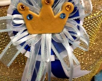 Baby Shower Prince or Princess Crown Badge Favor Choose Boy or Girl