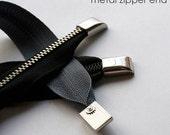 Zipper Ends - 5 pack, Nickel Finish