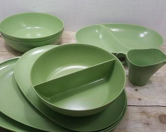 Boontonware Green set, Melmac, Read all descriptions