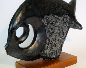 Mid Century Abstract Fish Sculpture