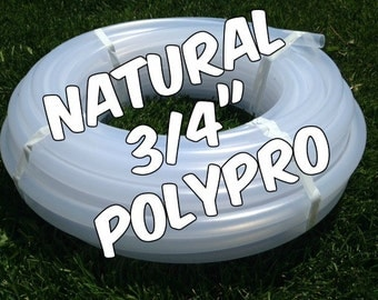 "3/4"" Natural Polypro hula hoop tubing roll - Make your own hoops!  Comes with insert material 50 ft or 100 ft"