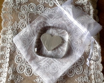 Silver heart love token