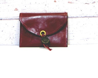 Change pouch, Change money, Leather change coin, Small coin holder, Marsala wallet, Burgundy envelope small case, burgundy coin pouch