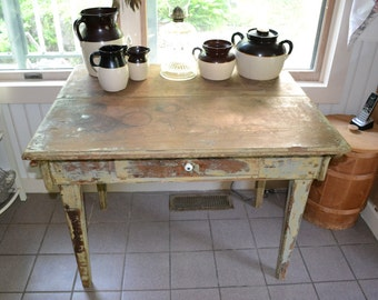 Rustic Farmhouse Kitchen Table