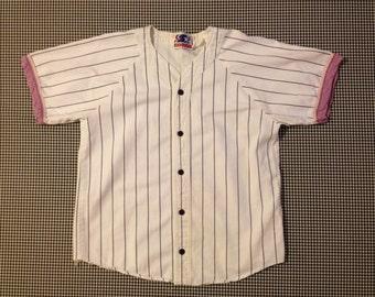 1990's, no name, baseball jersey, Men's size Small/XS, Women's size Medium