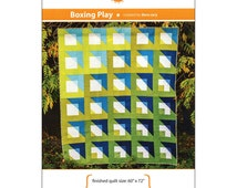 "Pattern ""Boxing Play"" Quilt Pattern by Orange Dot Quilts (ODQ006) Paper Pattern Gradient Fabrics"