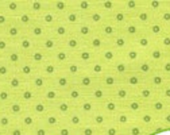 Teeny Tiny Donuts - Lime by Lakehouse Drygoods (12156-LIM) Cotton Fabric