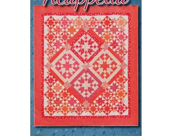 "Pattern ""Acappella"" Quilt Pattern by Black Cat Creations (BCCACA) Paper Pattern Instructions"