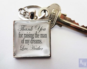 Father of the Groom Keychain - Fathers Day, Wedding, Dad
