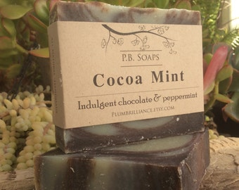 Cocoa Mint Soap - chocolate mint, cocoa butter, shea butter