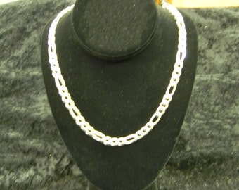 """Lovely Sterling Silver 925 Large Link Chain 23"""" Long ET: 6069"""