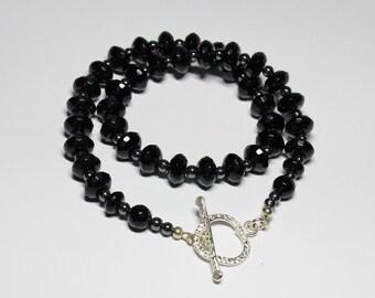 Black Onyx and Haematite Necklace